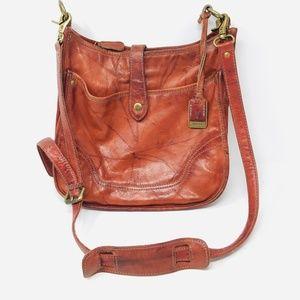 Frye Madison Crossbody Cognac Leather Handbag